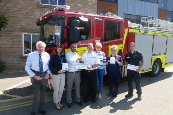 Health Innovation Manchester donates Atrial Fibrillation Detection Devices to Cheshire Fire Service