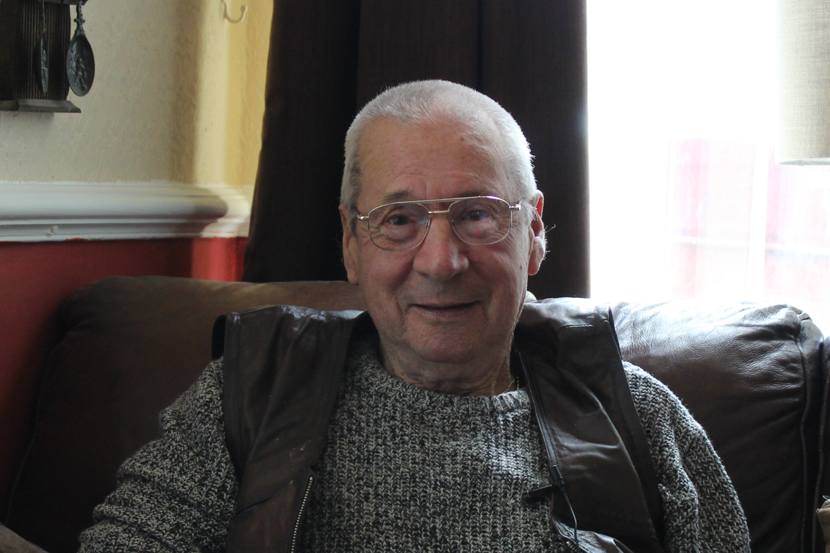 COPD patient Don, sat at home