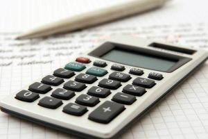 Calculator with funding notes