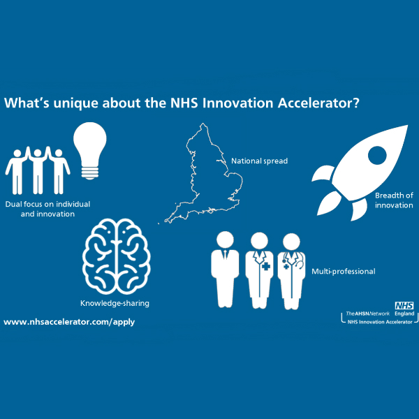 What's unique about the NHS Innovation Accelerator? Dual focus on individual and innovation, knowledge sharing, national spread, breadth of innovation and multi-professional.