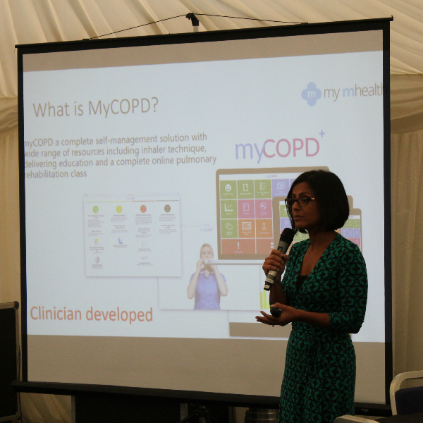 Dr Binita Kane addressing the North Wesr COPD Joint Collaborative event