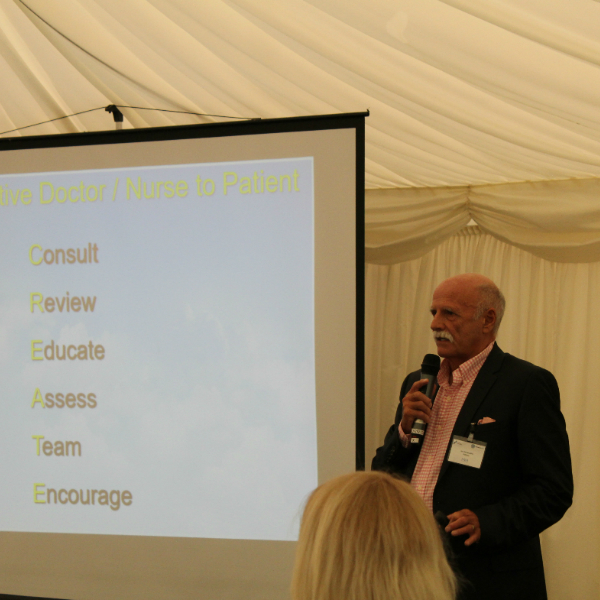 Ian Kenworthy addressing the North Wesr COPD Joint Collaborative event