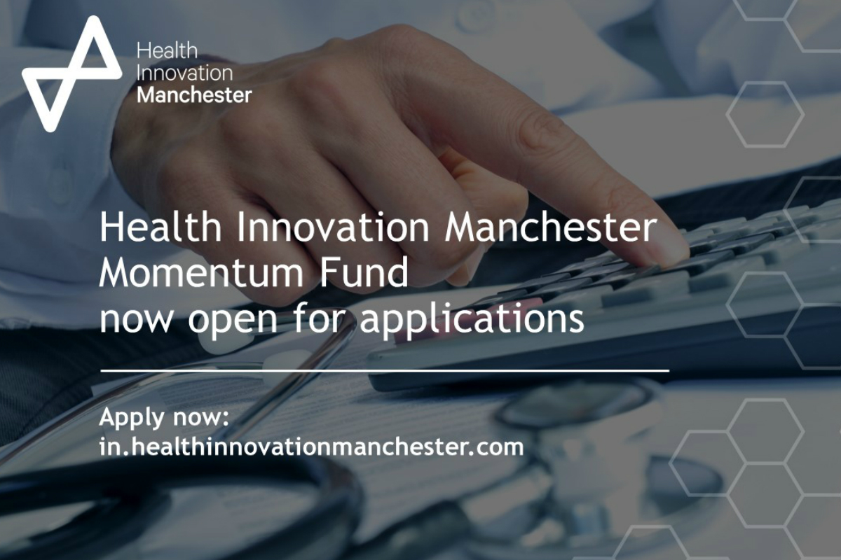 Health Innovation Manchester Momentum Fund now open for applications. Apply Now.