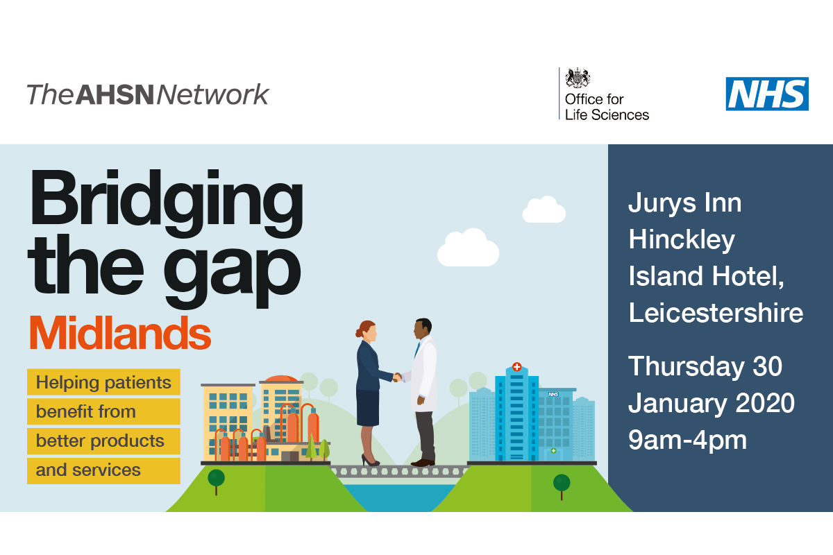 The AHSN Network: Bridging the gap Midlands poster.