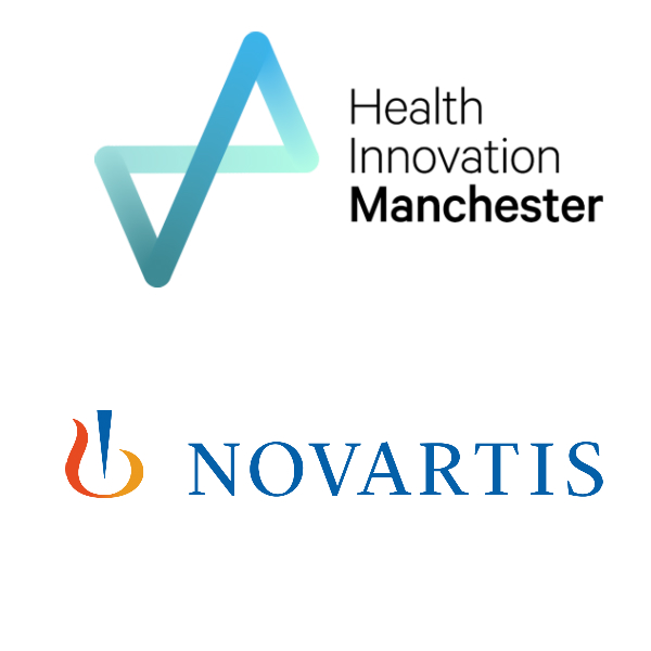 Health Innovation Manchester and Novartis Logos