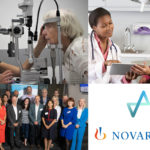 Health Innovation Manchester and Novartis Collaboration in Greater Manchester - multi images displaying variety of projects