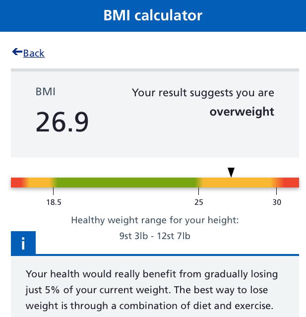 Professor Ben Bridgewater uses an online BMI calculator