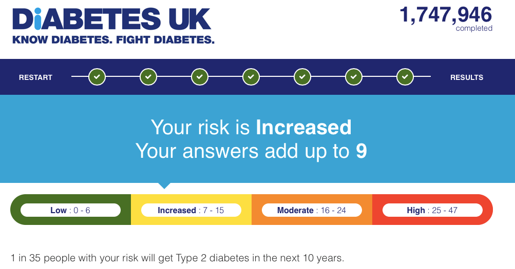 Professor Ben Bridgewater uses Diabetes UK Type 2 Diabetes risk calculator
