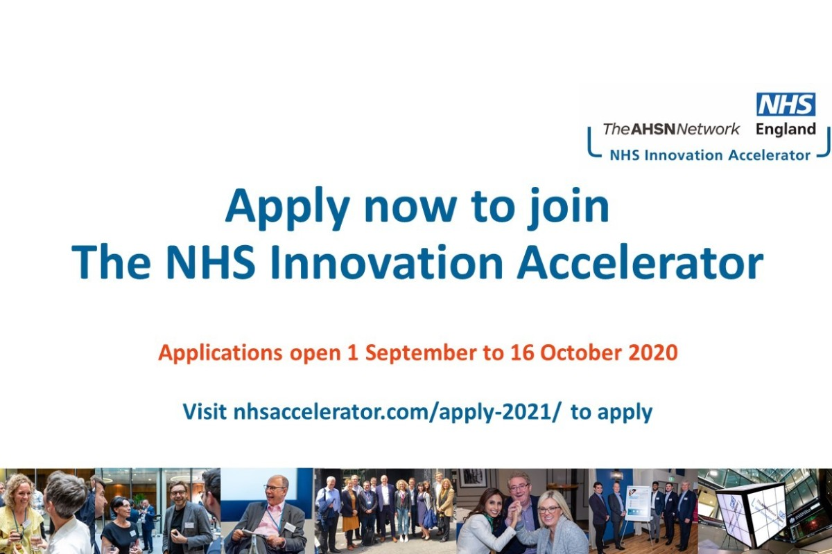 Apply now to join the 2021 NHS Innovation Accelerator