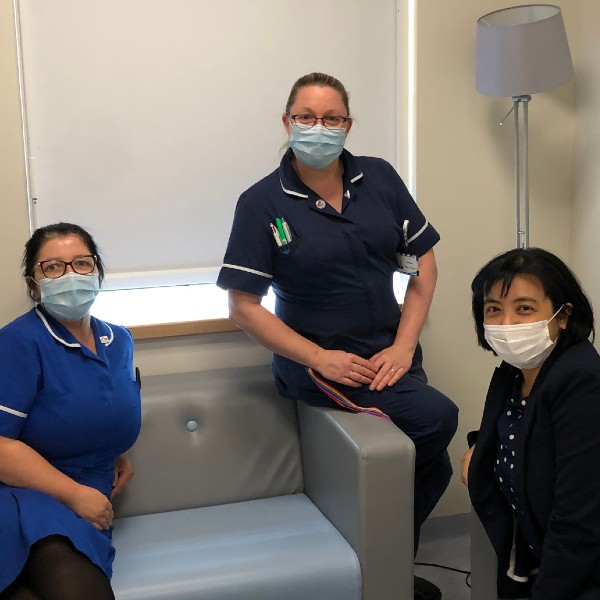 The Rainbow Clinic Team at The Royal Oldham Hospital: (L-R) Tracy Butler, Katie Bowker and Dr Annabel Dieh