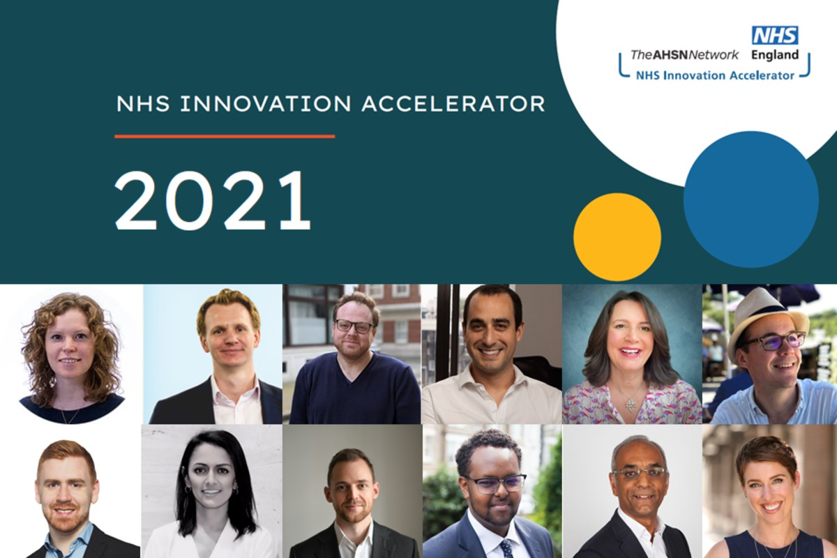 Pictures of the 12 innovators on the NHS Innovation Accelerator 2021