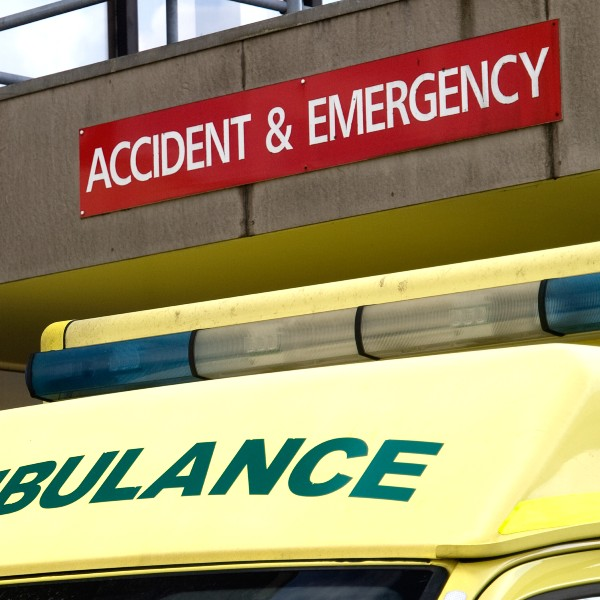 Ambulance outside Accident and Emergency