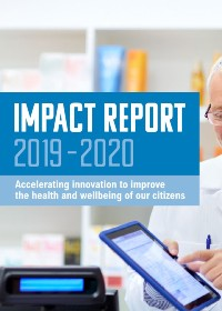 Health Innovation Manchester 2019-20 Annual Impact Report Front Cover