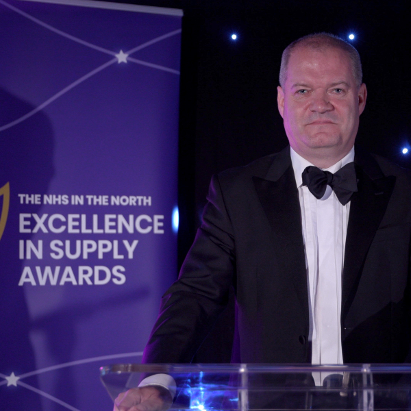 Phil Jennings presenting at this year's Excellence In Supply Awards ceremony.